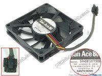 SANYO 9PH0812P7S09 DC 12V 0.26A 80x80x15mm Server Cooler Fan