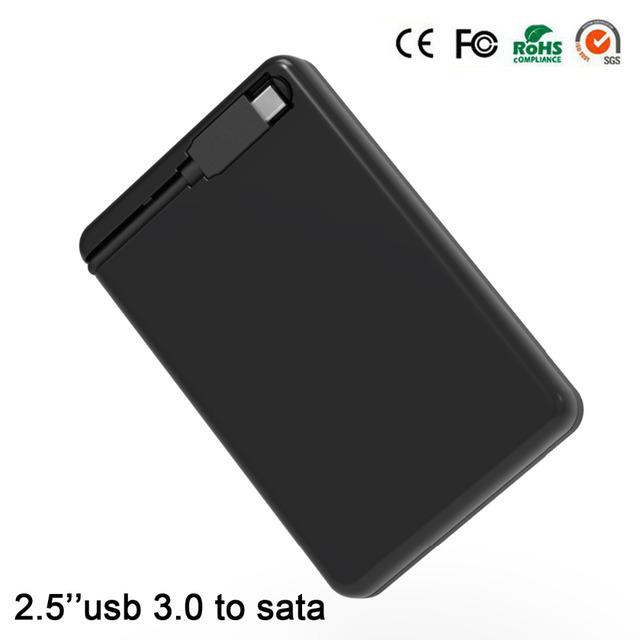 De plástico caso de disco duro externo SATA I, II, III hdd caso usb 2.5 3.0 HDD usb 3.0 hdd de 7/9. 5mm de disco duro del recinto