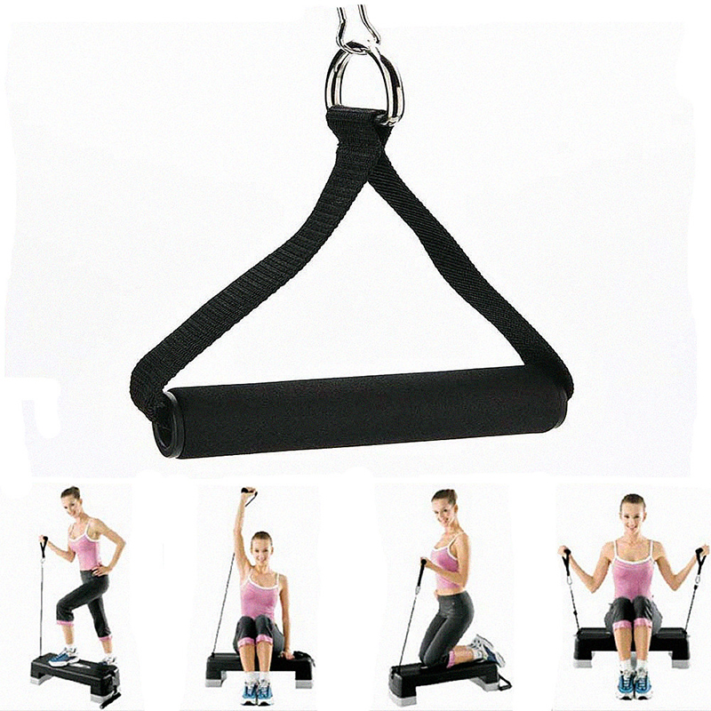 Hot 1 Piece Tricep Rope Attachment Bar Dip Station Resistance Fitness Exercise Gym Bodybuilding Workout