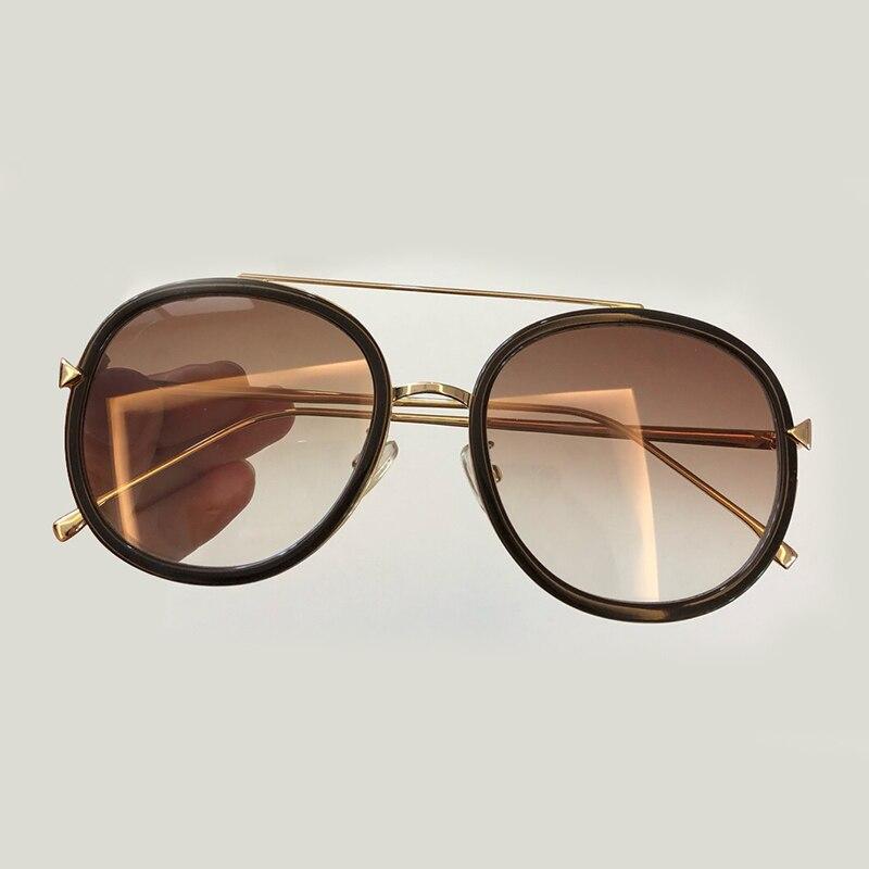 Women Round Sunglasses 2019 Fashion Luxury Brand Designer Oculos De Sol Feminino Gradient Lens with Packing