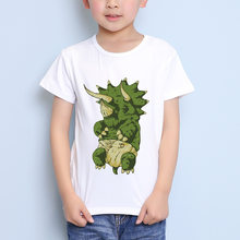 TEEHEART Boys/girls's Modal T-shirt Green Baby Dinosaurs Printed 18M-10T Summer Children Casual Clothing TA353(China)