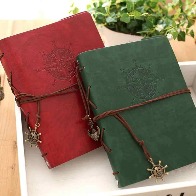 High Quality 8 inch Photo Album PU Leather 30 Sheets Black Khaki Paper Vintage Notebook Diary Wedding/Birthday Gift 21.8x18.0cm
