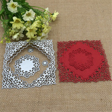 5pcs Classic flower frame DIY New Metal Cutting Dies Stencil Scrapbooking Photo Album Card Paper Embossing Craft DIY