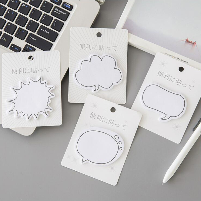 Japanese Style Minimalist Dialog Self-Adhesive Memo Pad Sticky Notes Adhesive Office Stationery And School Supplies 1PCS