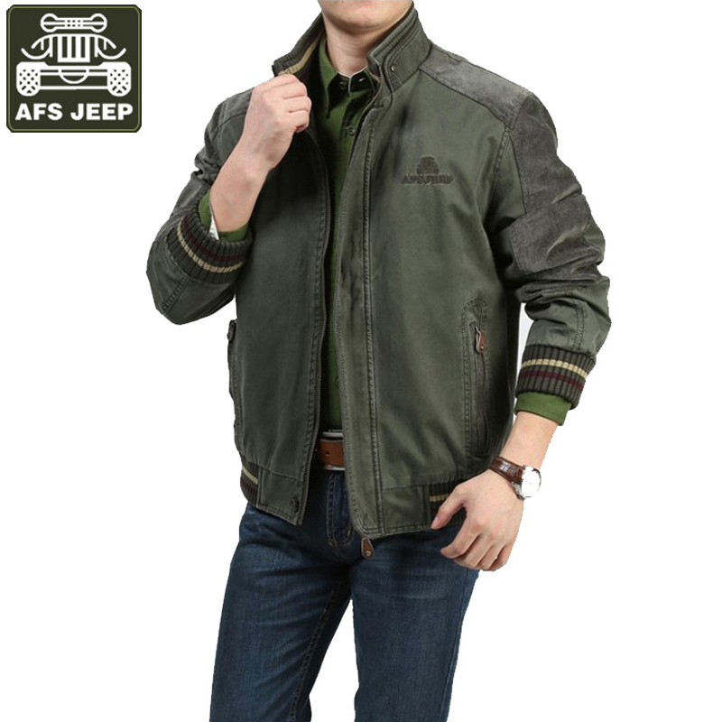 AFS JEEP Brand Winter Jacket Men Bomber Jacket Army Military Thick Casual Jackets And Coats Plus Size 3XL Windbreaker Homme все цены
