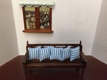 1 12 Cute MINI Dollhouse Miniature Furniture accessories dollhouse decoration bench