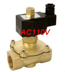 Free Shipping 5PCS Electric Solenoid Valve Water Air N/O 110V AC 1 Normally Open Type Water Solenoid Valve free shipping 2pcs 1 1 4 electric solenoid valve water air n o 220v ac normally open type 2w350 35 no