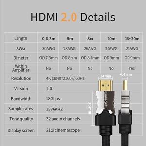 Image 5 - Essager Cavo HDMI HDMI a HDMI 2.0 Cavo 4K 1080P 3D Adattatore HDMI Per Il Proiettore PS4 HD TV del Computer portatile Del Computer 5m 10m 15m 20m Cavo