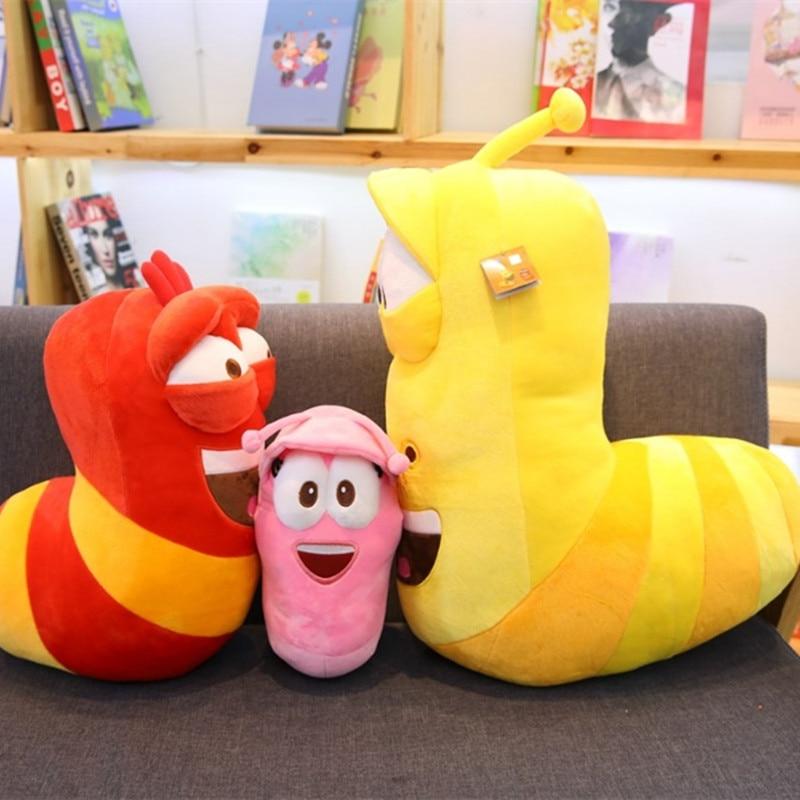 32/45cm Anime Funny Insect Slug Creative Larva Plush Toy Stuffed Pillow Movie & TV Cartoon Toys For Kid Birthday Christmas Gift