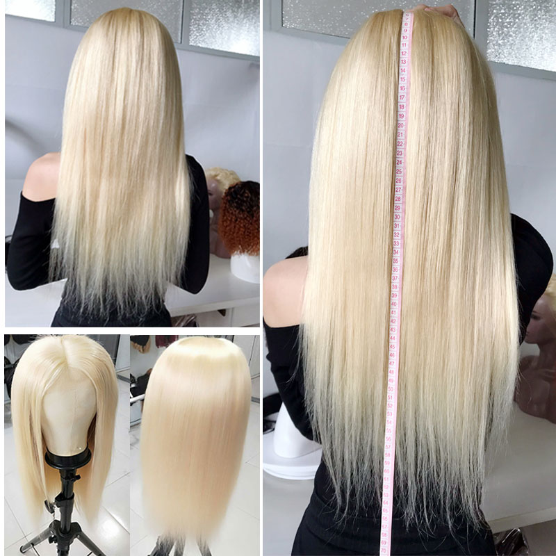Image 3 - Bestsojoy 613  Blonde Lace Front Wig Brazilian Remy Human Hair Wigs for Black Women Straight 13x4  Transparent Lace Wig-in Human Hair Lace Wigs from Hair Extensions & Wigs