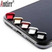 Металлическая Пылезащитная заглушка для зарядки iPhone 8, 7, 6, 6S Plus, мини Пылезащитная заглушка для iPhone 5, 5S, SE, аксессуары для телефонов