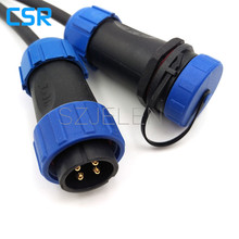 SP2110,  Waterproof connector 4 pin, Industrial Equipment Power Connector,optical fiber connector, Outdoor connector IP68