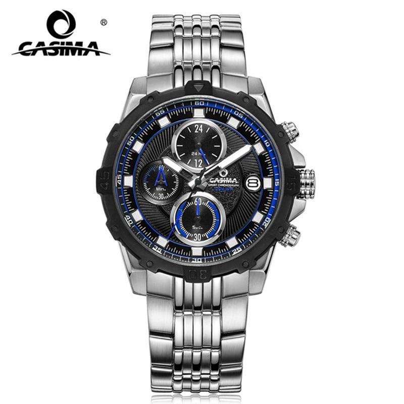 купить CASIMA Business Men Watches Top Brand Luxury Watch Waterproof 100m Multi-Function Fashion Chronograph relogio masculino недорого