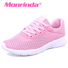 Monrinda Spring Summer Sneakers Women Walking Shoes Lightweight Running Air Mesh Breathable Sport Pink Shoe Woman 812