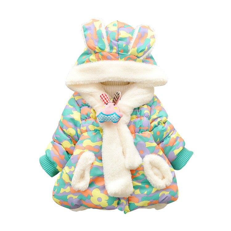 Милый Кролик Ребенок Зимняя Куртка Толщиной Хлопка Мягкий Девочка Верхняя Одежда Детская Мальчиков Куртка Малышей Девушки Снег Износ детские Пальто
