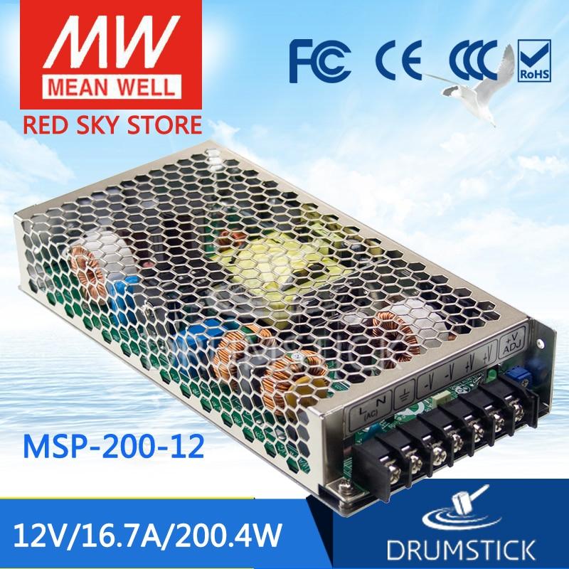 все цены на 100% Original MEAN WELL MSP-200-12 12V 16.7A meanwell MSP-200 12V 200.4W Single Output Medical Type Power Supply онлайн