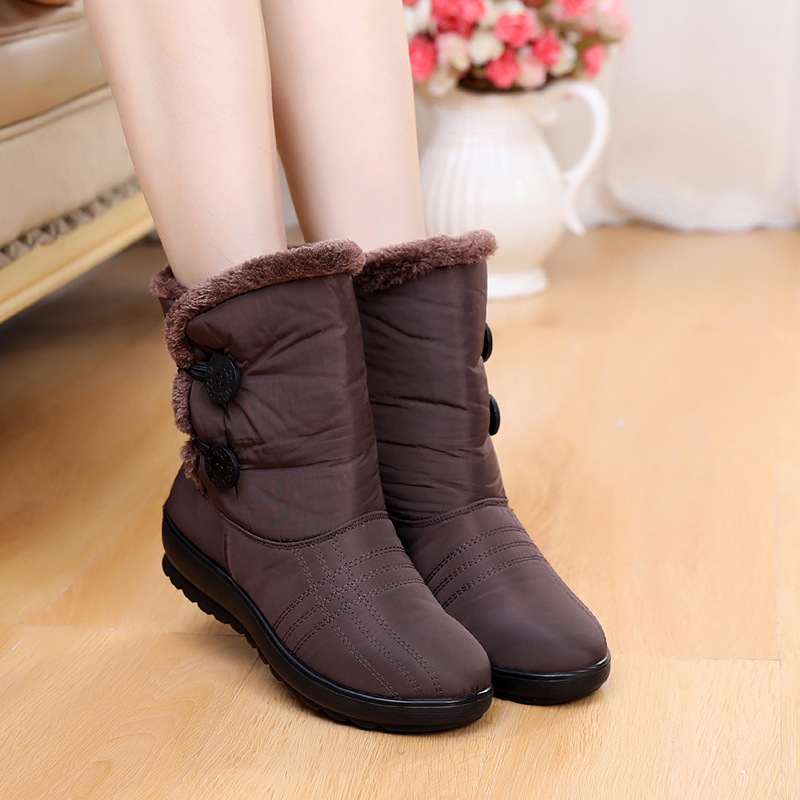 Non-Slip Snow Boots 2019 New Women Boots Warm Winter Boots Waterproof Mother Shoes Winter Women Shoes Plus Velvet Cotton BootsNon-Slip Snow Boots 2019 New Women Boots Warm Winter Boots Waterproof Mother Shoes Winter Women Shoes Plus Velvet Cotton Boots