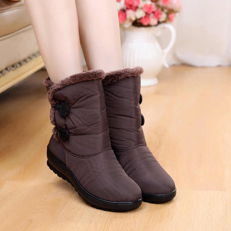 Schnee Stiefel Frauen Stiefel Weibliche Winter Stiefel Damen Warme Pelz Winter Schuhe Frauen Booties Frauen Schuhe Plus Baumwolle Frauen Knöchel stiefel