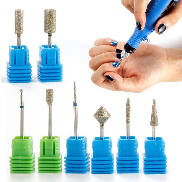 12 Types Nail Drill Pedal Diamond Electric Nail Driller Cordless ...
