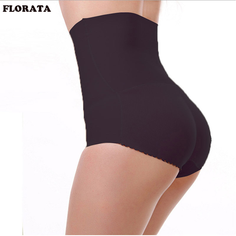 FLORATA USPS Dropship Sexy Women's Hip Padded Butt Lifter High Waist shaper Push Up Buttocks  Lady Seamless Panties Underwear