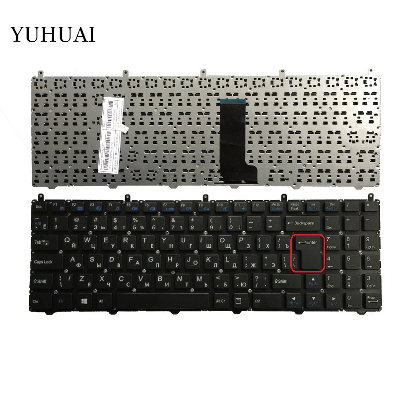 NEW Russian Keyboard For DNS Clevo W650SRH MP-12N76SU-4301 6-80-W6500-281-1D Russian Laptop Keyboard