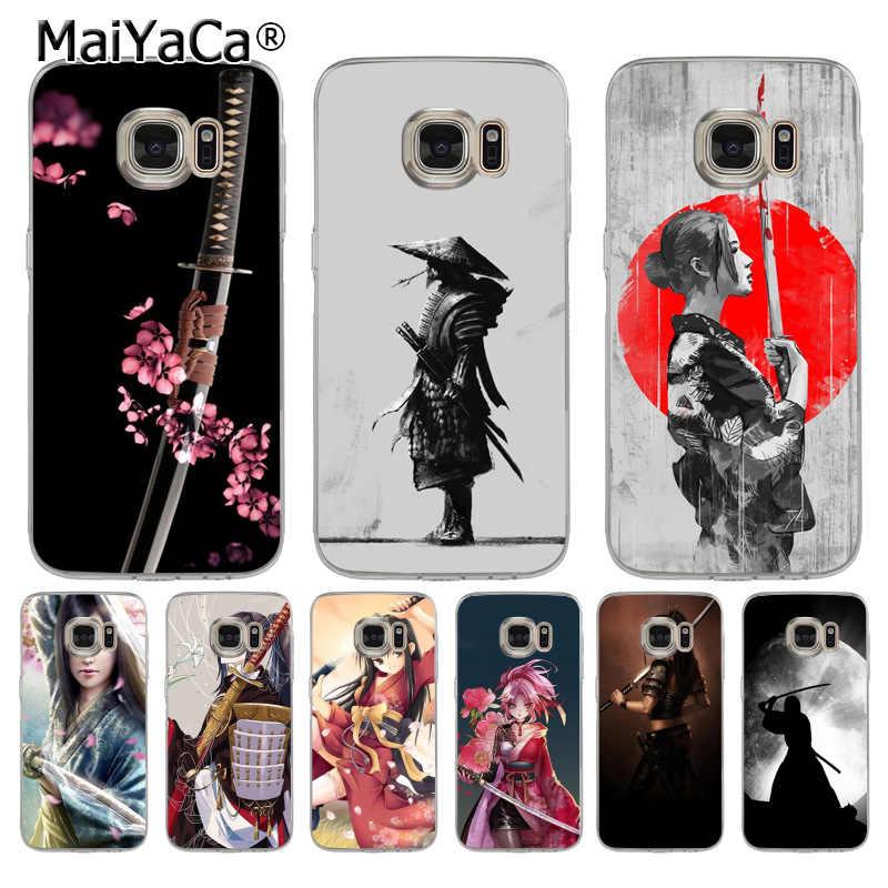 MaiYaCa 日本サムライガール新高品質マルチカラーの高級電話ケースのための samsung galaxy s8 s7 エッジ s6 edge plus s5 s9 ケース