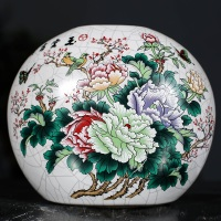 guci Famille rose ceramic vase new Chinese style living room decoration Home Furnishing shelf gift porcelain decoration