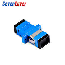SC-SC flange Fiber Coupler APC Optic Adapter UPC Optical Simplex Mode  Flange PC Connector ftth