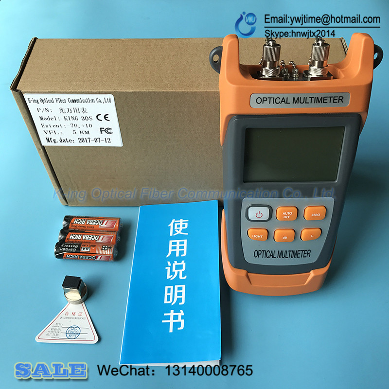 Image 2 - KING 30S 2in1 Fiber optical power meter  70 to +10dBm and 1mw 5km 10KM Fiber Optic Cable Tester Visual Fault Locatoroptical poweroptical power meterfiber optic power meter - AliExpress