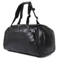 J.M.D Large Duffle Bag Men Weekend Genuine Leather Business Bag Men's Travel Bag Popular Design Bagpack X 6010A