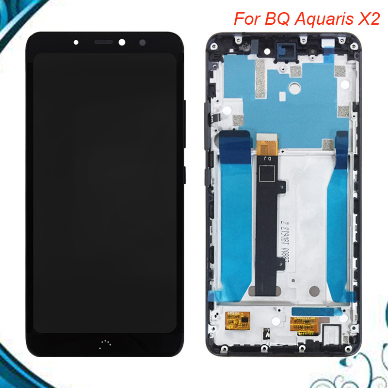 White/Black 5.65 inch For BQ Aquaris X2/BQ X2 LCD Display+Touch Screen Digitizer Assembly With FrameWhite/Black 5.65 inch For BQ Aquaris X2/BQ X2 LCD Display+Touch Screen Digitizer Assembly With Frame