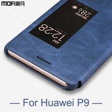 Huawei P9 чехол Huawei P9 крышка флип роскошные кожаные MOFI оригинальный Folio гладкой смартфон P9 Обложка Huawei P9 случае