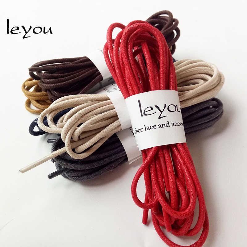 Leyou 80-160 см вощенный шнур Цветные шнурки кожаные шнурки для обуви шнурки для спортивной обуви шнур