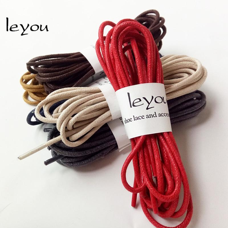lA Waxed Round Shoe Laces Shoelace Bootlaces Leather Brogues Multi Color 27