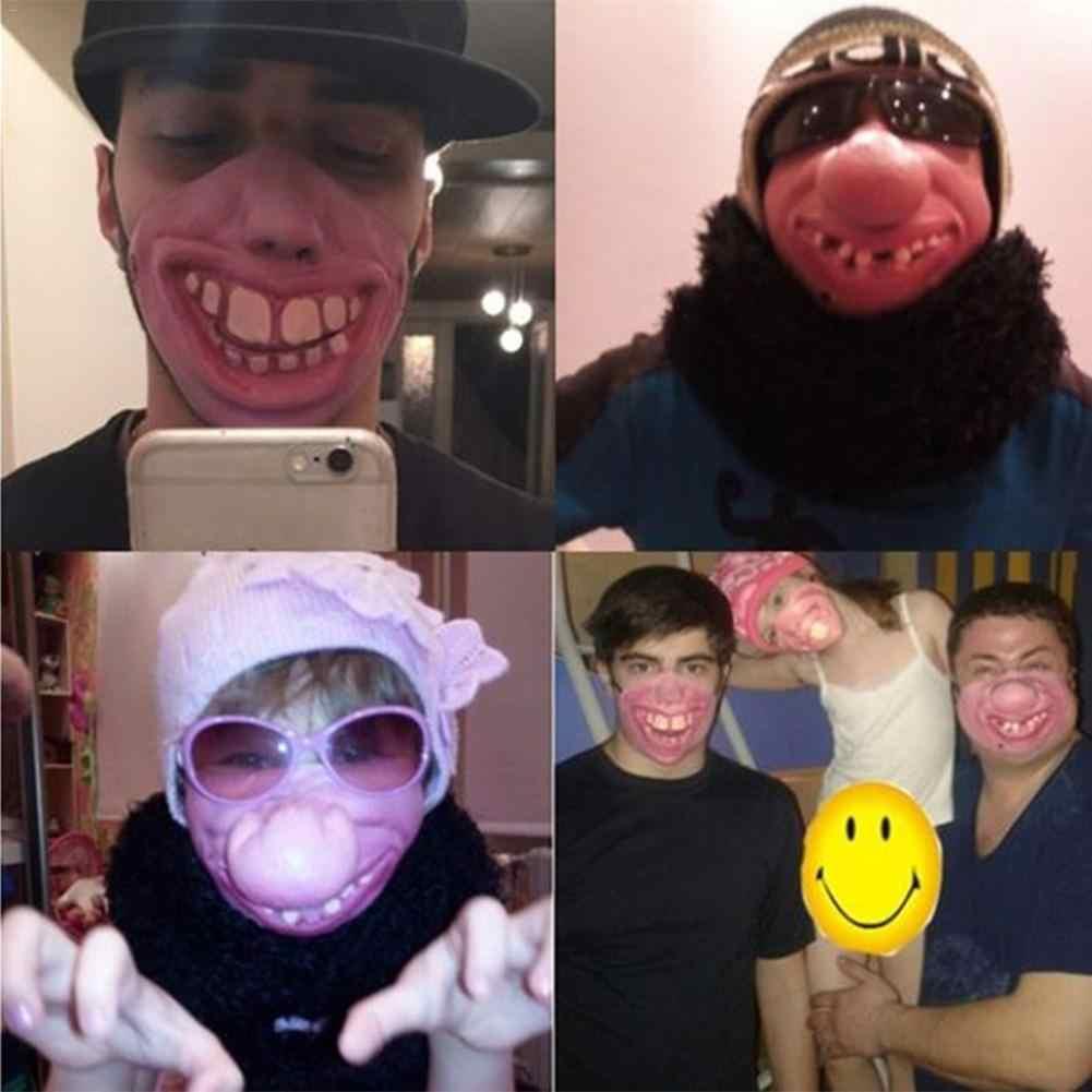 Straszny Vampire zgryz straszne Halloween festiwal maski szyi zgryz rany Horror maska Party kostium na Halloween Party Cosplay dostaw