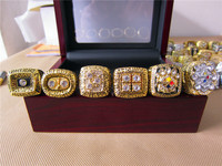 1974 1975 1978 1979 2005 2008 Pittsburgh Steelers Super Bowl Championship Ring 6 Together Solid With