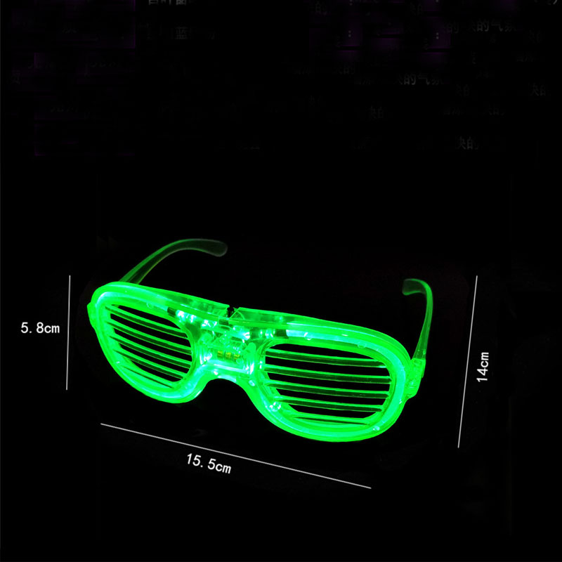 Shutter Glasses With LED Luminous Lighting For Birthday And Night Party 5
