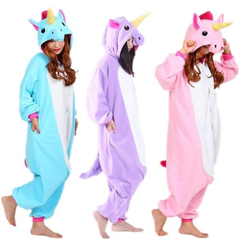 NEW 2018 Cartoon Small Pony Purple Pink Unicorn Candy Horse Onesies Adult Cosplay Animals Pyjama Pajamas Halloween Christmas