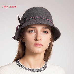 fairy dreams Caps Winter Women Bucket Hat Black Leaf Style 8c621957f