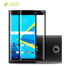 Limelan 9H 3D Curved Surface Full Screen Cover Explosion-proof Tempered Glass Film for Blackberry Priv with Retail Box
