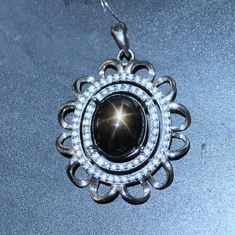 Air luxury style necklace 4 Carat natural starlight sapphire origin wholesale price super discount wholesale 1 4 2v3a