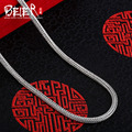 Beier new store 100% 925 silver sterling necklaces pendants trendy fine jewelry chains necklace for women/men  BR925XL036