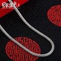 Beier nueva tienda 100% 925 plata esterlina collares colgantes de moda collar de cadenas de joyería fina para las mujeres/hombres br925xl036