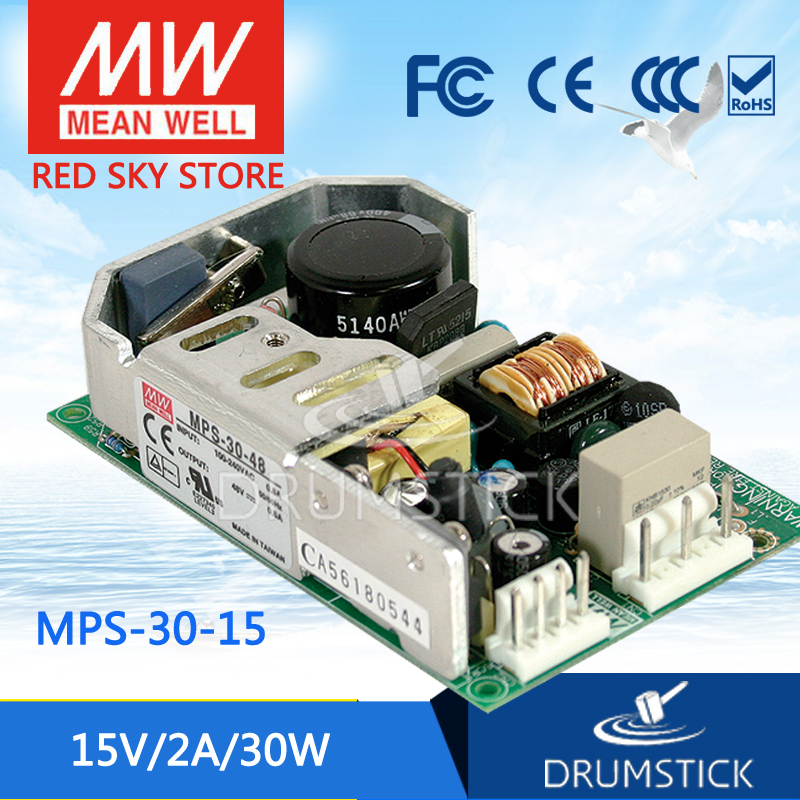 цена на Selling Hot MEAN WELL MPS-30-15 15V 2A meanwell MPS-30 15V 30W Single Output for Medical Type