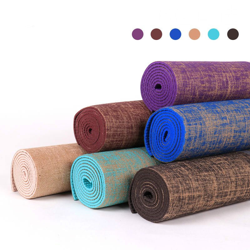 High Quality High Density Non-slip Comfortable Breathable Flax Yoga Mat Fitness Mat Sports EquipmentHigh Quality High Density Non-slip Comfortable Breathable Flax Yoga Mat Fitness Mat Sports Equipment
