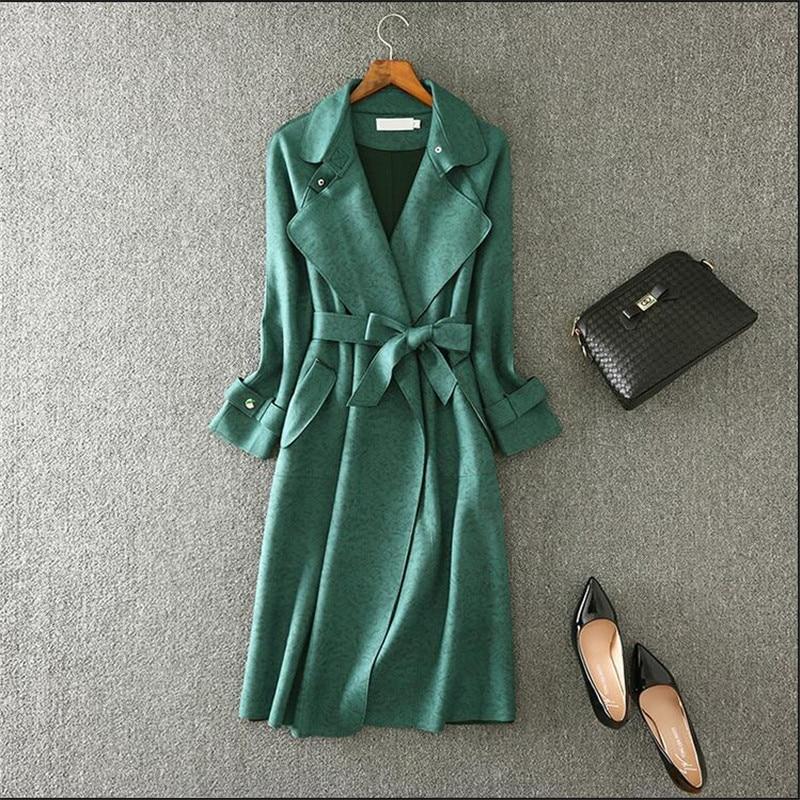 Trench Avec Longue Mode Fit Blue Hiver En Manteau Cool Outwear M Longueur Cuir Des A3720 Chaud 3xl gray Slim green Femmes Automne pink Ceintures Rose Cachemire 6axnIf