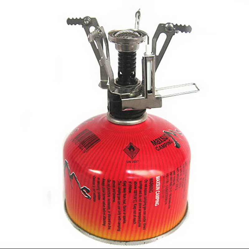 Portable Outdoor Camping Hiking BBQ Stove Ultralight Backpacking Gas Butane Propane Canister Stove Burner T0.35