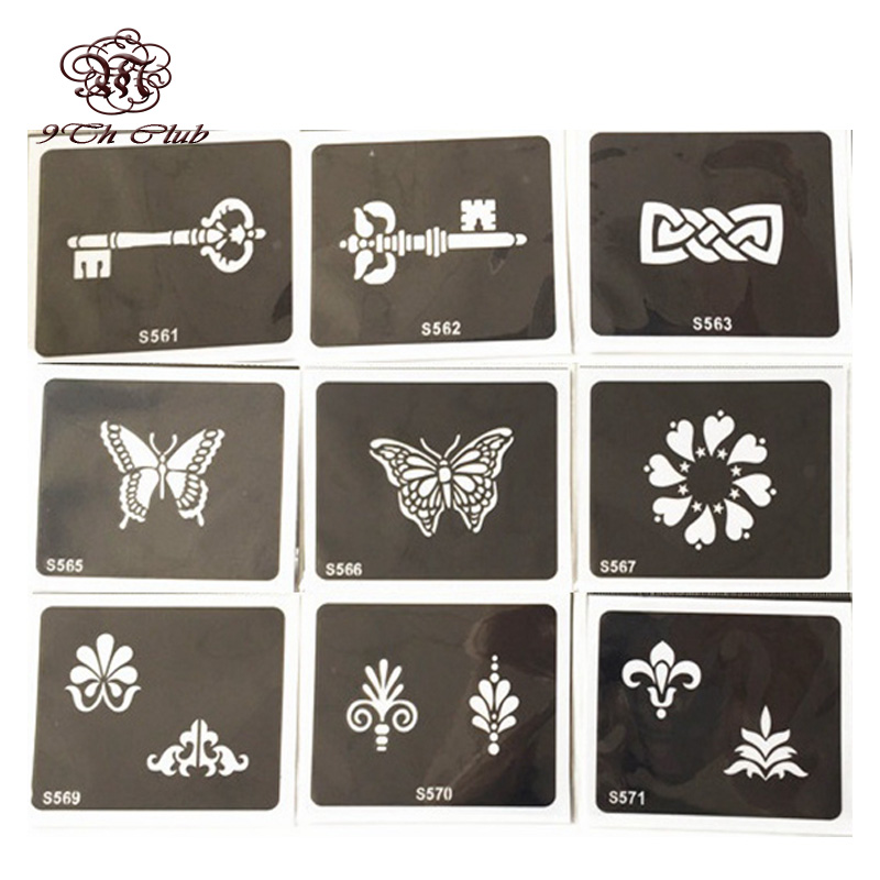 50pcs Glitter Tattoo Stencil Woman Female Kids Drawing Templates,Flower Choker Ankle Bra ...