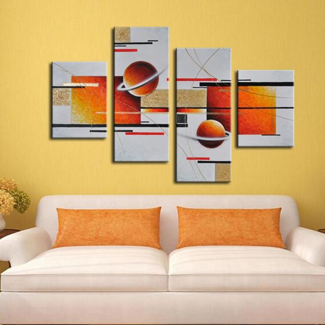 Hand Painted Oil Painting Set Abstract Canvas Painting Wall Art ...