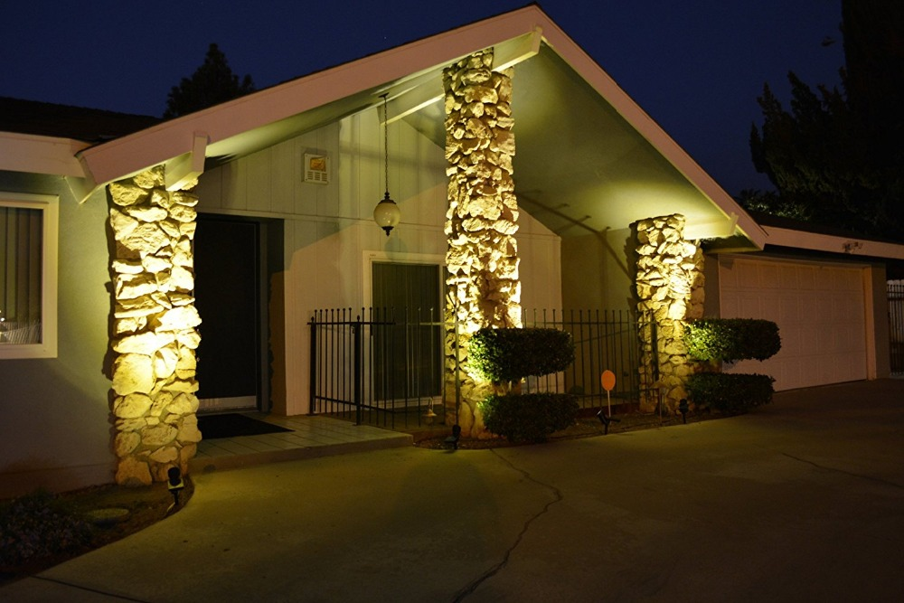 Us 16 87 75 Off 2pcs Lot Led Solar Light Spotlight Waterproof Outdoor Security Wall Landscape Spot Lights For Yard Garden Warm White In